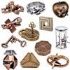 Classic IQ Puzzles Game Toys Metal Brain Teaser Magic Baffling for Children Adults 3D Lock Creativity Wooden Interlocking Burr