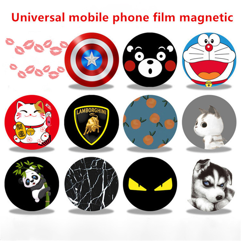 Magnetic Disk For Car Phone Holder 1 Pieces Iron Sheets Plate Use Magnet Mount Mobile Phone Holder Stand For Iphone Car Holder