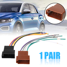 For Car Electronics Accessories 1PC Universal Stereo Female Socket Radio ISO Wire Harness Adapter Connector 12V 16CM Mayitr