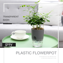 Planter-Basket Self-Watering-Planter Planting Hanging Flower-Pot Wall Plastic Water-Storage-Basin