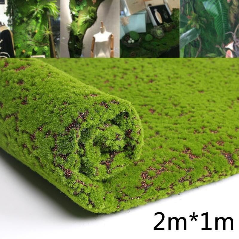 Artificial Plant Coffee Artificial Moss Fake Green Plants Grass For Shop Patio Wall Decor DIY Home Decorations1M*2M