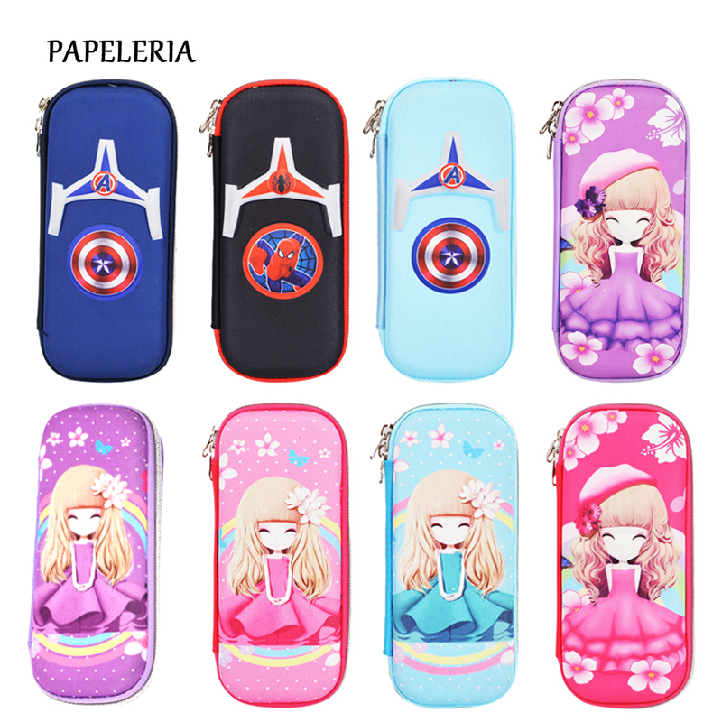 <font><b>Kawaii</b></font> Large Capacity <font><b>Pencil</b></font> <font><b>Case</b></font> For Boy Cartoon Hero <font><b>Pencil</b></font> Box Girl Waterproof <font><b>Big</b></font> Pencilcase <font><b>School</b></font> Stationery Supplies Gift image