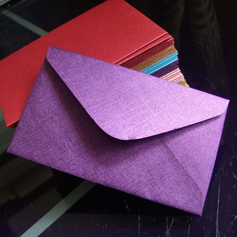 6x10cm 120gsm High Quality Purple Envelope For Credit Card VIP Membership Card Mini Envelopes