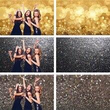 Avezano tło dla fotografii urodziny wesele czarnego złota brokatowa wystrój tło dla Photo Studio Photozone Photocall