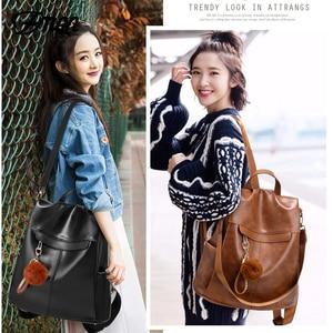 Image 5 - ZMQN Backpack Women 2020 Anti Theft Backpack Mochila Feminina Vintage Bagpack School Leather Bags For Womens Back Pack C131