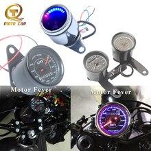 Digital Fuel Gauge Velocimetro Moto Tachometer Instrumentos Oil LCD Universal Motorcycle Speedometer CG125 Bracket