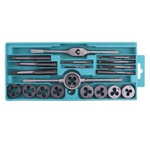 20pcs Tap and Die Set Cutter Alloy Steel Wrench Threaded Cutting Nut Bolt Screw Tool