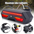 Bike Tail Light Turn Signals USB Rechargeable Wireless Remote Control Ultra Bright Waterproof Safety Warning Rear Lights