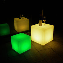 Waterproof Rechargeable RGB LED Light Cube Seat Chair LED Lighting Remote Control for Bar Home Garden Party Event Decor Dropship(China)