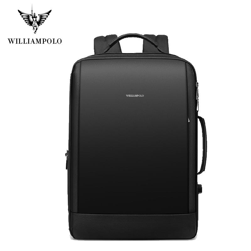 Williampolo Men Backpack Weekend Travel Backpack Men Water Repellent Laptop Backpack Computer Back Pack Male Bagpack PL187146