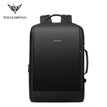 Williampolo Men Backpack Weekend Travel Backpack Men Water Repellent Laptop Backpack Computer