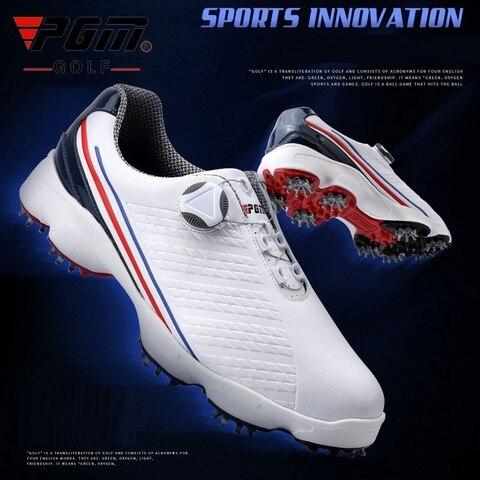 Sapatos de Golfe dos Homens à Prova Sapatos de Golfe Dwaterproof Água Tênis Atividades Prego Anti-deslizamento Picos Breatheble Esportes Formadores D0573 2020 Pgm