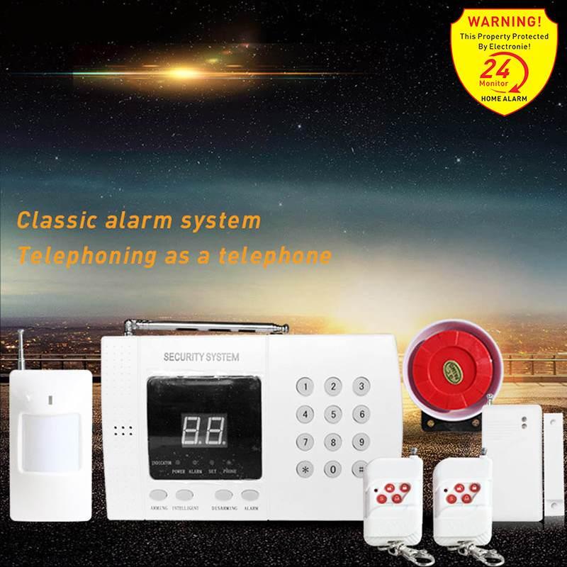 Wireless Home Security System Auto Dial PSTN Telephone Line Burglar Set WIFI 433MHz GSM Alarm System Remote Control Sensor Kit