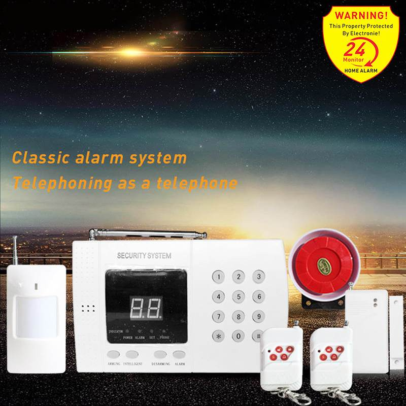 Wireless Home Security System Auto Dial PSTN Telephone Line Burglar Set WIFI 433MHz GSM Alarm System Remote Control Sensor Kit