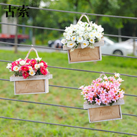 Living room artificial flower decoration wedding fake flower Decorative table plastic potted plant with flower basket