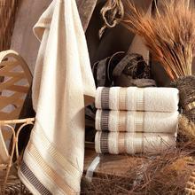 Binnur Home Natural 50x90 Cm 4'lü Antibacterial Hand And Face Towel, dowries Towel, gift, 153-99-0072