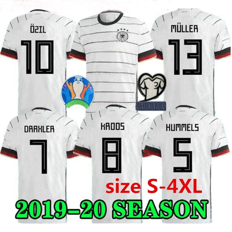 Новинка, размер S-4XL, Germanyes, евро 2020, REUS, домашняя футбольная майка, слил Вернер 19 20, MULLER Hummels Draxler KROOS, футбольные футболки