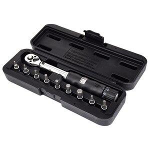 1/4 дюйма Dr 2-14Nm динамометрический ключ для велосипеда, набор инструментов для ремонта велосипеда, механический гаечный ключ с трещоткой, руч...