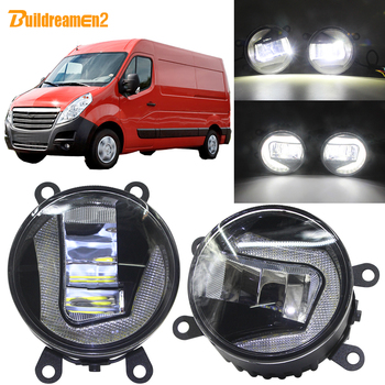 Buildreamen2 Car Styling LED Projector Front Fog Light Daytime Running Light DRL H11 White 12V For Opel Movano 2000-2010