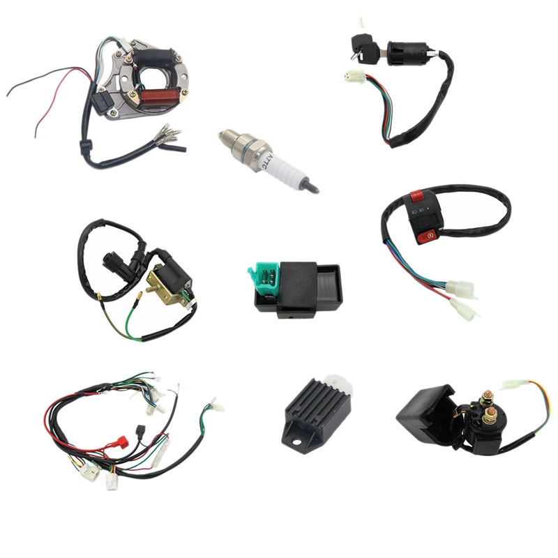 Complete Electronic Stator Coil Cdi Harness 4-Stroke Atv Klx 50Cc 70Cc 110Cc 125Cc Four-Wheeled Motorcycle Off-Roader Karting