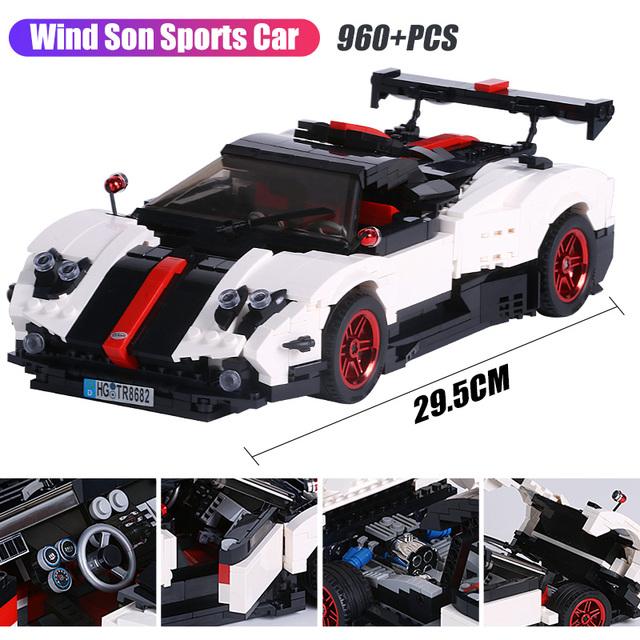 City Creator Hood Roadster Series Model Building Blocks Technic Creative Sports Car Bricks Toys Christmas Gift For Kids