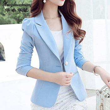Autumn Winter 2020 Women Formal Office Work Uniform Business 1Piece Jacket singleton Blazer Suit Female image