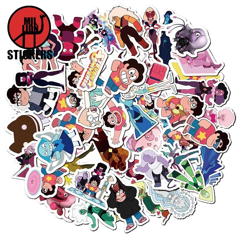 25/50pcs Steven Universe Cartoon Cute Laptop Stickers DIY Sticker For Kids Toys Laptop Bags Box Desk Phone Bicycle Waterproof