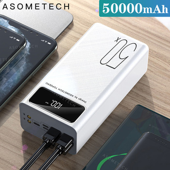 Power Bank 50000mAh Portable Charger LED Light Poverbank Powerbank 50000 mAh External Battery For iP