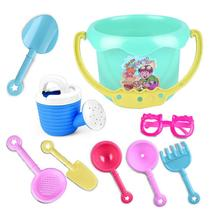 9Pcs Toddler Kids Children Outdoor Sand Beach Bucket Shovel Rake Water Toys Set