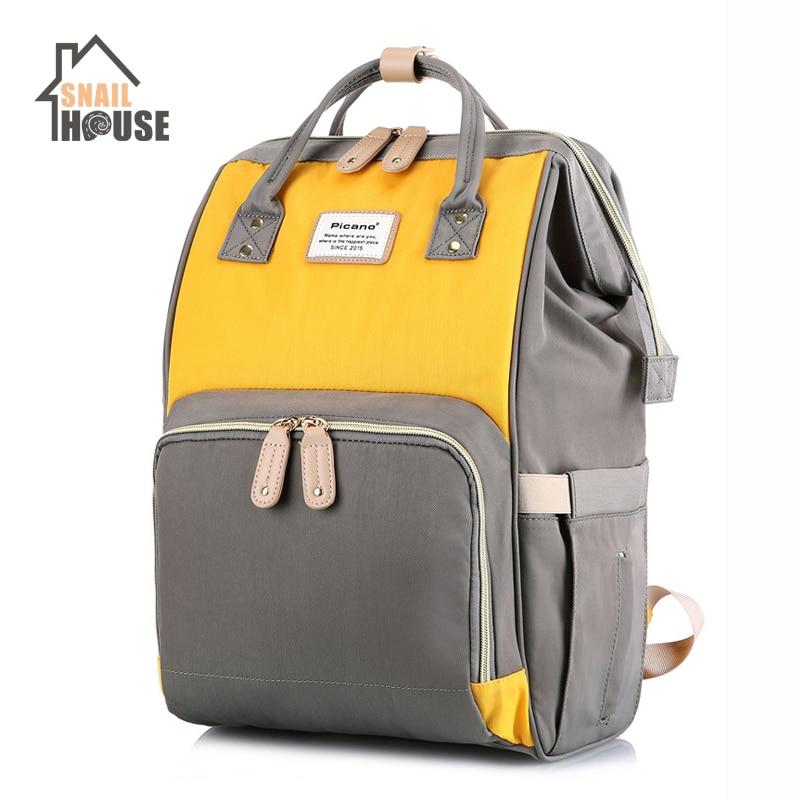 Snailhouse Nursing Bag Mummy Maternity Large Capacity Travel Backpack Fashion Maternal Baby Bottle Diaper Backpack For Baby Care