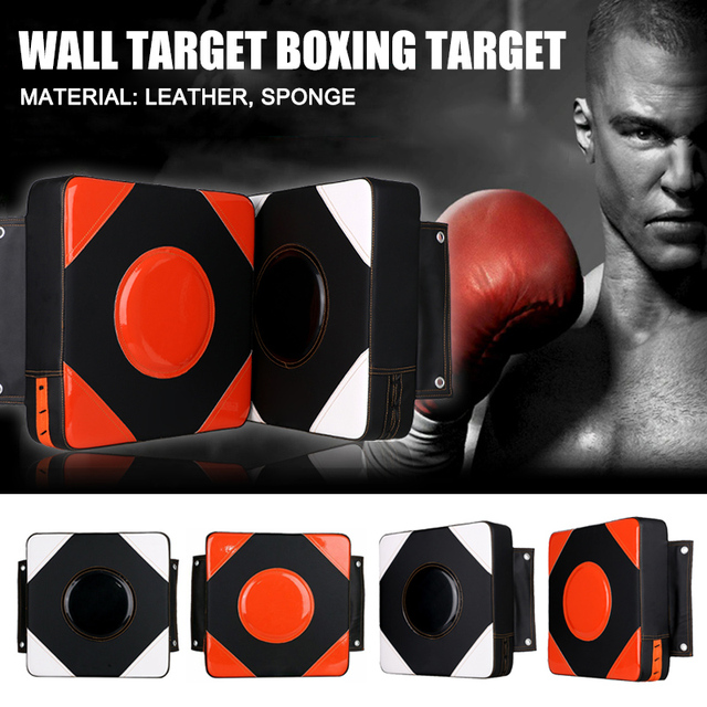 Fitness Wall Punch Pad Square Kick Target Fitness Training Fighter Boxing Bag Wall Sand Bag H7JP