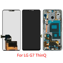 1Pcs Top quality New For LG G7 ThinQ 6.1 LCD Display Touch Screen Digitizer Full Assembly Replacement Black No/with Frame 1pcs top quality new for lg g2 d800 d802 lcd display touch screen digitizer black white no with frame
