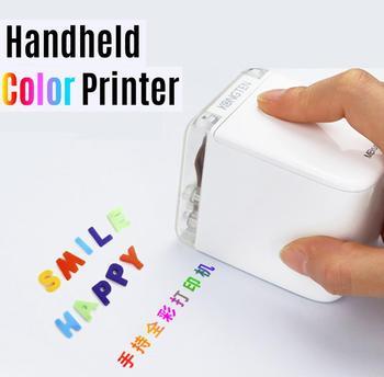 Impresora de mano MBrush Mini impresora de inyección de tinta portátil Impresora de código de barras en color 1200 ppp con cartucho de tinta APLICACIÓN para texto personalizado Número Código Etiqueta Símbolo Patrón