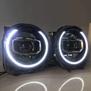 Image 1 - ل Jeep Renegade 2015 2018 المصابيح الأمامية LED DRL تشغيل أضواء ثنائية زينون شعاع عيون الملاك مصباح السيارات الأمامي