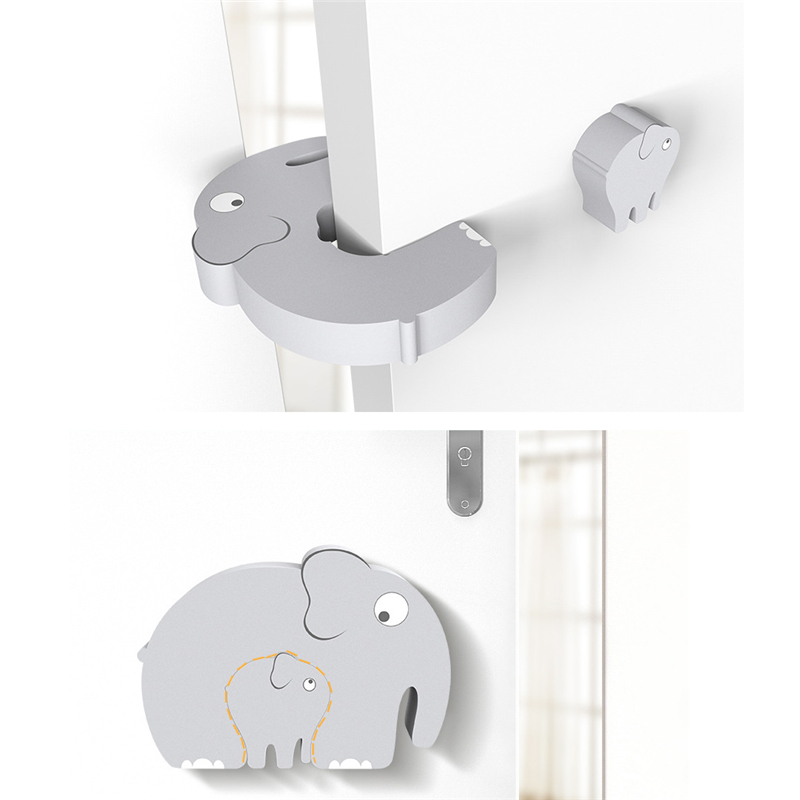 Cute Animal Protection Baby Safety Security Door Stopper Baby Card Lock Newborn Care Child Finger Protector Edge Corner Guards