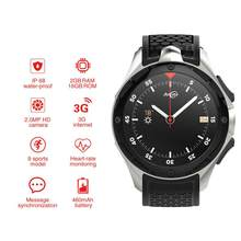 W2 3G Smart Watch Phone with 2.0mp camera Heart Rate Monitor Pedometer Fitness Tracker Smartwatch GPS WIFI sport watch(China)
