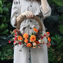 Janevini винтажный Шелковый свадебный цветок Венок корзина Свадебные