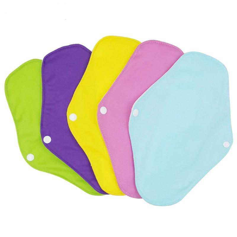 2019 Women Panty Liner Cloth Menstrual Pads Bamboo Cotton Mama Cloth Menstrual Sanitary Reusable Washable Day Pads