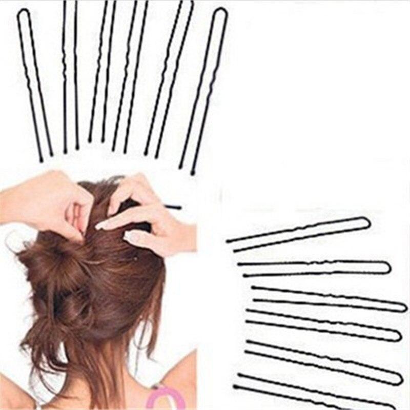 20Pcs Hair Clips 5/6/7cm Hair Waved U-shaped  Hair Clip Black Hair Clips Curly  Barette Cheveux Hair Hairdressing