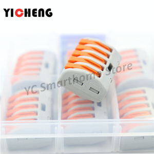 Image 4 - 10 Pcs Box Case Universal Compact Wire Bedrading Connector 2 Pin Dirigent Terminal Block Met Lever 0.08 2.5mm2 Draad connector Diy