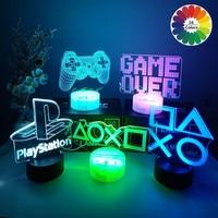 ゲーム,ルーム,オフィス,装飾用の3DビジュアルLEDナイトライトを備えたゲームコンソールコントローラー