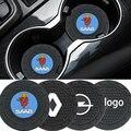 Автомобильный нескользящий коврик, подставка под чашку, 2 шт., для BMW E81, E82, E87, E88, F20, F21, F22, F23, F45, F46, F32, F33, F36, G15, E84, F48, F49, F39, G07, X1, X2 M