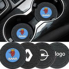 2 pièces voiture tapis antidérapant support de verre tapis pour Kia Ceed Rio 3 4 Sportage Cerato Picanto Soul Sorento K3 K5 K9 Stonic Stinger Optima Ni