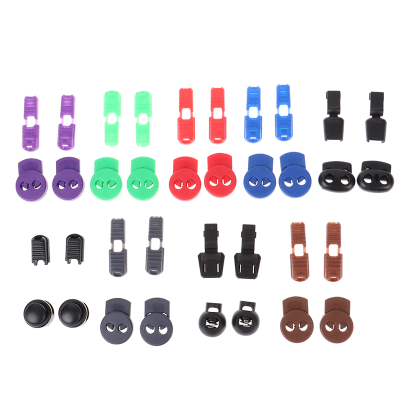 1Pair Elastic Tieless Laces Cord Buckles Clip Lock No Tie Shoelaces Locks For Sneakers Boots Casual And Work Shoes