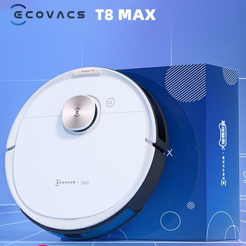 Original ECOVACS DEEBOT OZMO T8 MAX T8 MAX + Auto-vide aspirateur Robot APP fonction anglais parlant chine Version