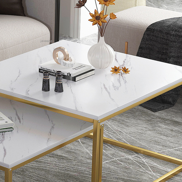Marble Squared Coffee Table Comb Set 5
