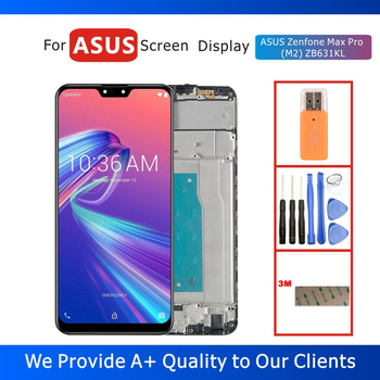 Tested 6.2 LCD Display for ASUS Zenfone Max Pro (M2) ZB631KL Display with Touch Screen Digitizer Assembly Frame Replacement original 5 2 for asus zenfone 3 max zc520tl x008d lcd display touch screen digitizer assembly with frame for asus zc520tl lcd