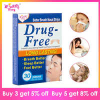 Drop Ship 30 Pieces/Box Better Breath Anti Snore Strips 55X16cm Breathe Right Aid Sleep & Snoring Stop Snore Plaster Nose