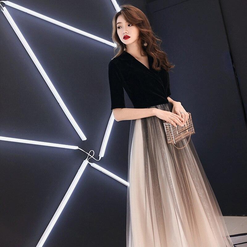 2020 Vestido Cocktail Gengli Party Dress Skirt 2020 New Elegant Long Noble Fashion Show Thin Toastmaster Female Celebrities