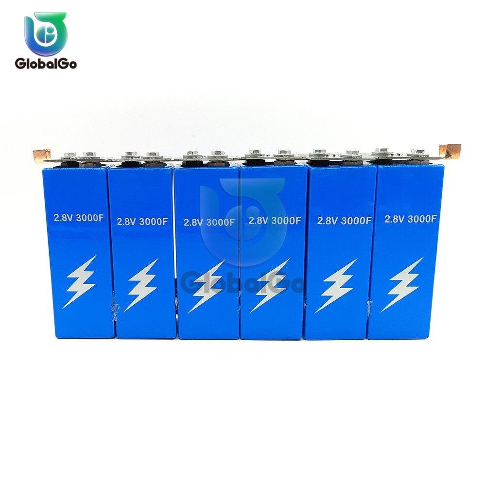 6 pz/lotto 16.8V 500F 2.8V 3000F Super Farad Condensatori Bordo di Protezione Auto Auto Motore Condensatori di Avviamento Della Batteria di Backup pacchetto